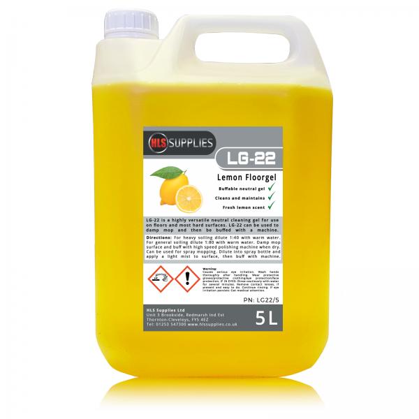 HLS LG-22 - Lemon Floorgel - Buffable Floor Cleaner & Maintainer 5L