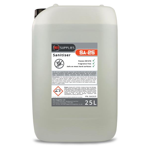 HLS SA-25 Sanitiser 25L | Alcohol Free, ...