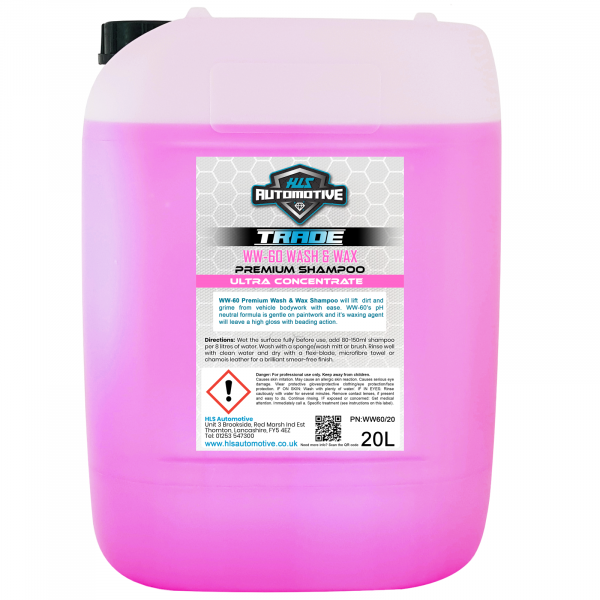 20L WW-60 Wash & Wax - Premium Car S...