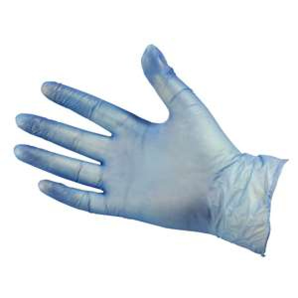 Blue Vinyl Gloves Medium (Powder Free) -...
