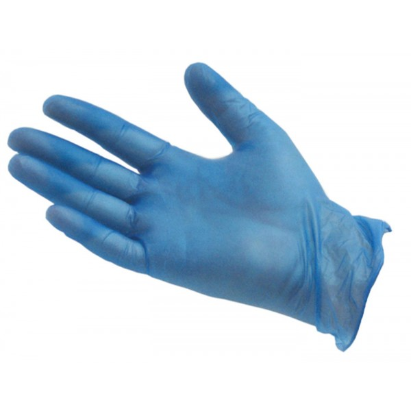 Blue Vinyl Gloves Medium (Powdered) - Bo...