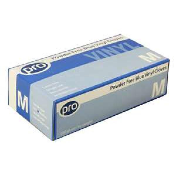 Blue Vinyl Gloves Medium (Powder Free) - Box of 100