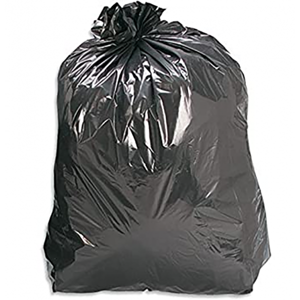 Black Square Bin Liners - HEAVY DUTY LARGE BIN LINERS (500) (381 x 609 x 609mm)