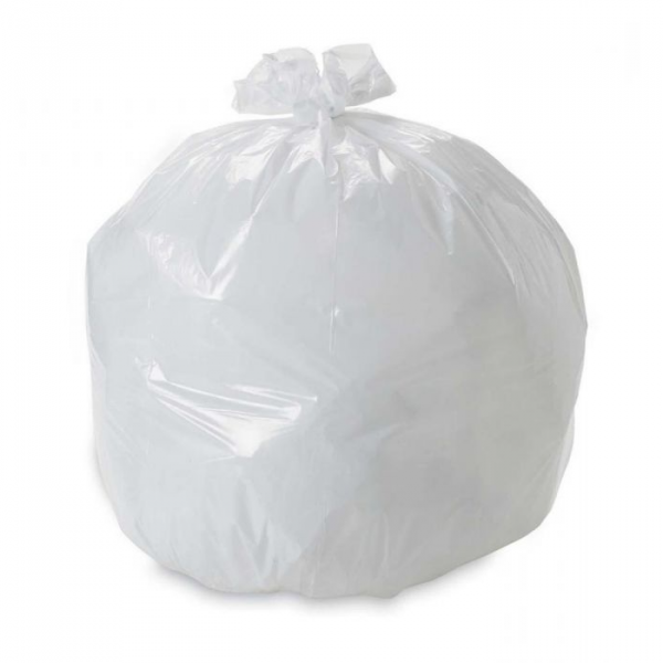 White Pedal Bin Liners - Heavy Duty (279 x 482 x 482mm) 1000 pcs - 10 x 100