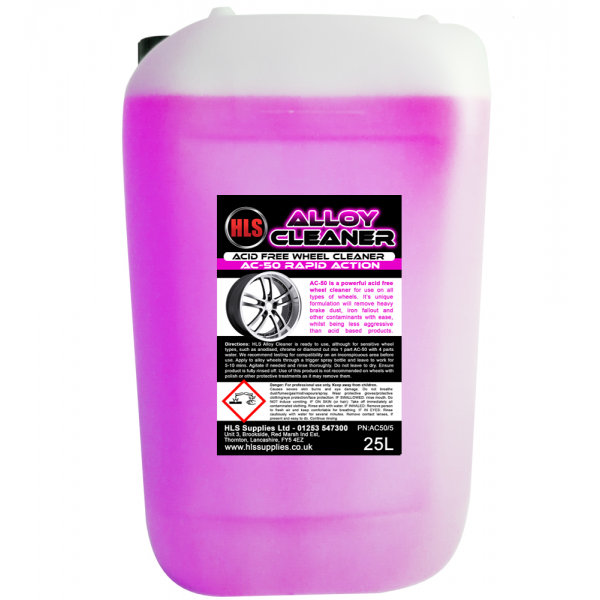 HLS AC-50 Alloy Cleaner - Acid Free Wheel Cleaner 25L