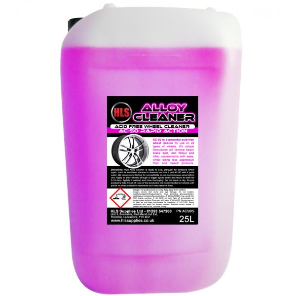 HLS AC-50 Alloy Cleaner - Acid Free Wheel Cleaner 25L