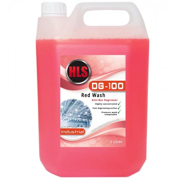 HLS DG-100 - Red Wash Anti-Bac Degreaser 5L