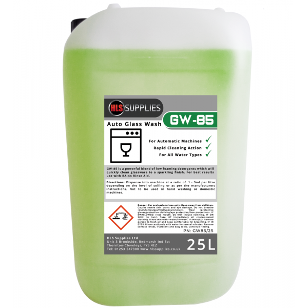 HLS GW-85 Auto Glass Wash 25L