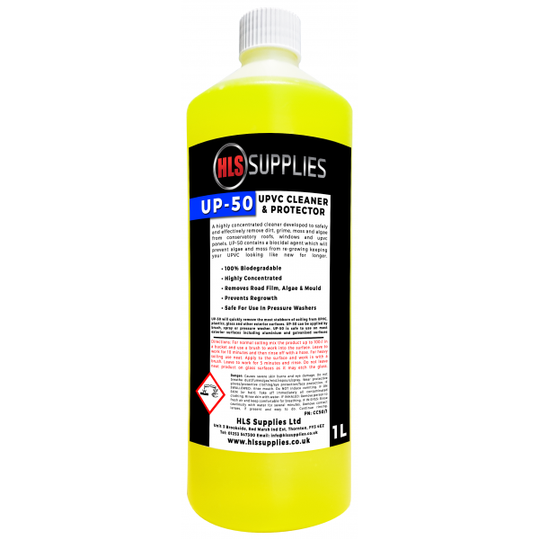 HLS UP-50 - UPVC Cleaner & Protector - Solvent Free 1L