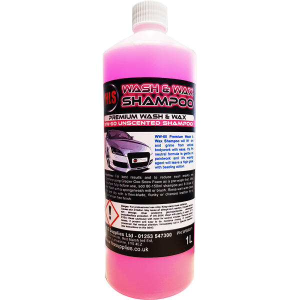 HLS WW-60 Wash & Wax - Premium Car Shampoo 1L