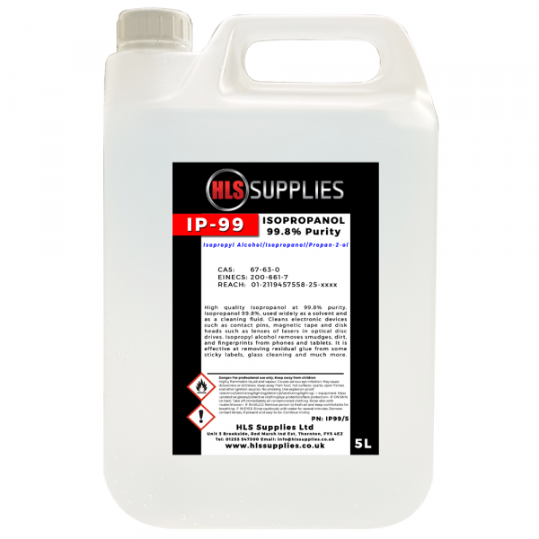 HLS IP-99 - Isopropyl Alcohol 99.8% 5L
