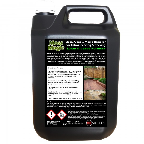 Moss Magic - Moss, Algae & Mould Remover 5L