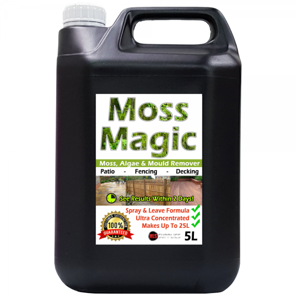 5L Moss Magic - Moss, Algae & Mould Killer/Remover