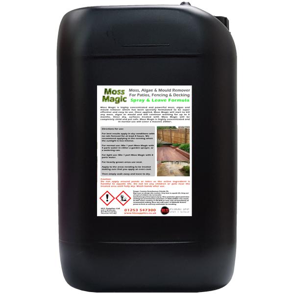 Moss Magic - Moss, Algae & Mould Killer/Remover 25L