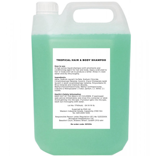 Tropical Hair & Body Shampoo 5L