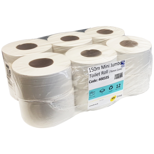 Mini Jumbo Toilet Roll 150m x 76mm Core ...